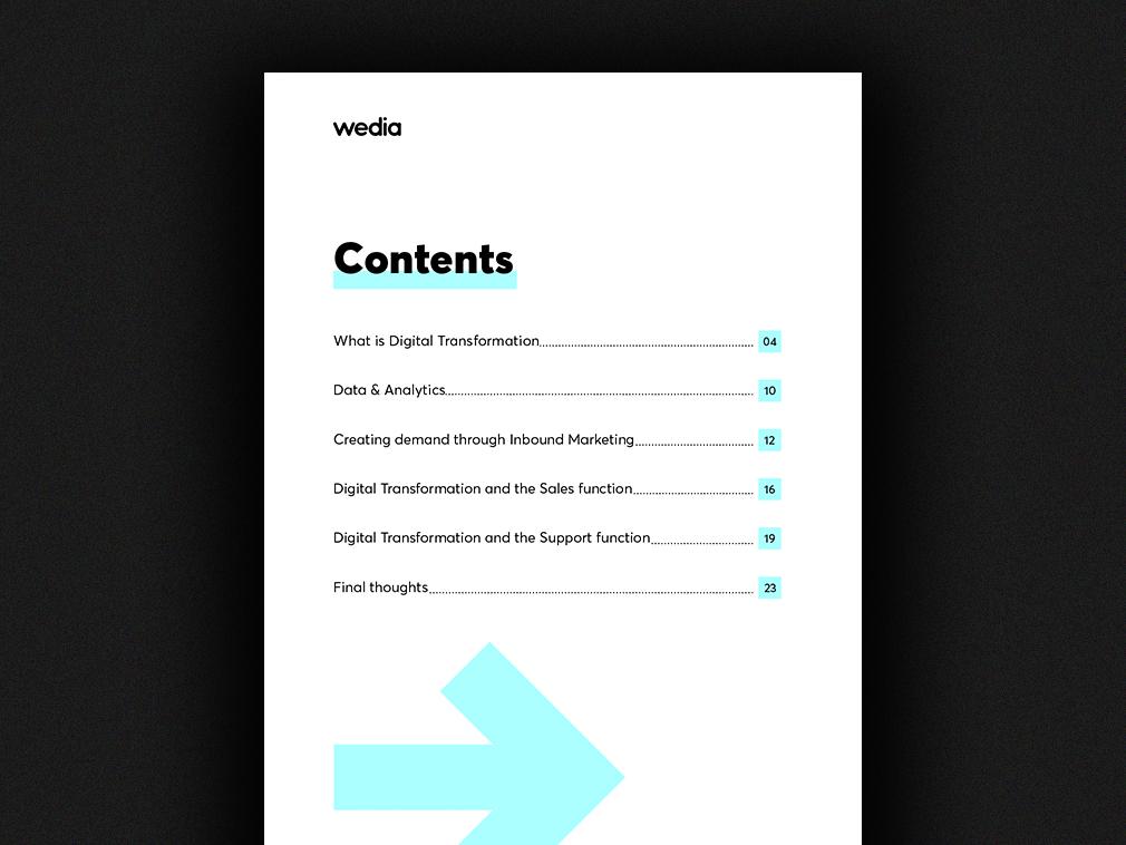 Digital Transformation Report - Contents